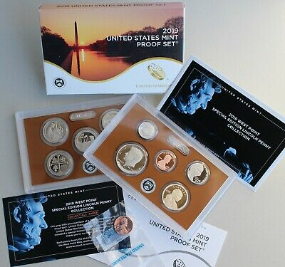 2019 S US Mint ANNUAL 11 Coin Proof Set Original Box + COA Complete with W Penny