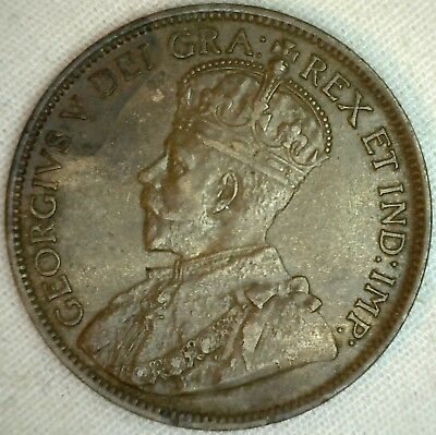 1916 Copper Canadian Large Cent Almost Uncirculated Coin 1-Cent Canada AU K5