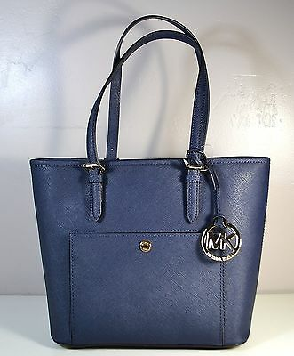 36b7d4f1a0c1e Nwt Michael Kors Jet Set Item Leather Medium Snap Pocket Tote Purse  30F4Gttt8L