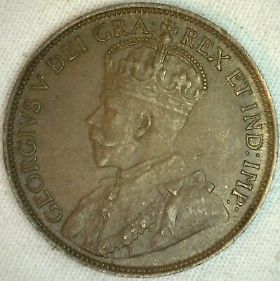 1918 Copper Canadian Large Cent Coin 1-Cent Canada AU Almost Uncirculated K1