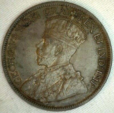 1916 Copper Canadian Large Cent Almost Uncirculated Coin 1-Cent Canada AU K2