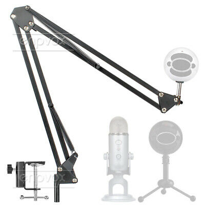 Suspension Mount For Blue Yeti Pro Snowball Ice Microphone Stand Boom Arm