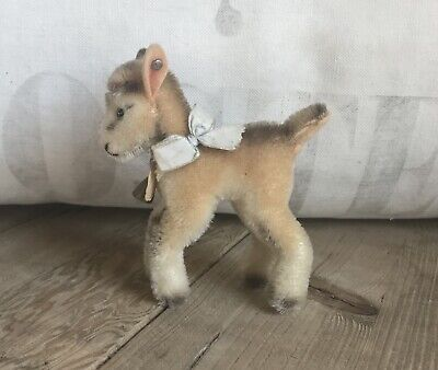 "Wonderful Vintage Steiff Mohair Goat ""Zicky"" Great Color All ID"