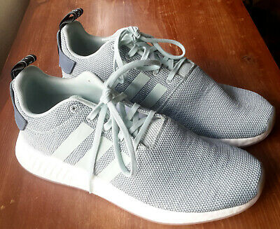 2281bd703b56a Adidas Women s NMD R2 Boost Raw Steel Ash Green White Sneakers Running Shoes  11