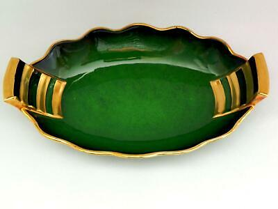 CARLTON WARE -  VERT ROYALE  *Art Deco* Twin Handled DISH - Excellent
