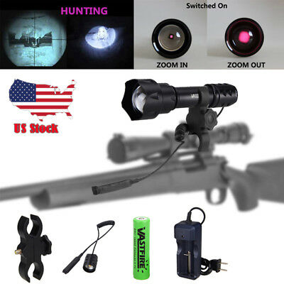 Zoomable IR 850nm 940nm Night Vision Infrared illuminator Varmint Hunting Light