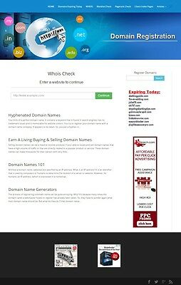 DOMAIN REGISTER and WHOIS SEARCH WEBSITE BUSINESS FOR SALE! MOBILE FRIENDLY SITE