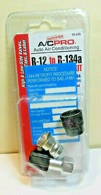 R-12 to R-134a ALL R12 SYSTEMS Retrofit Adapter Fittings Kit VA-LH8,NEW