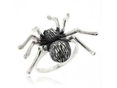925 Sterling Silver Black Antique Gothic Style Animal Spider Women Ring Size5-12