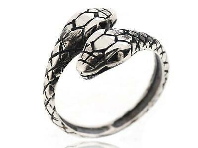 925 Sterling Silver Gothic Snake Animal Vintage Jewelry Women Ring Size 5-12