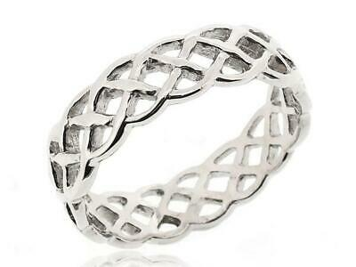 Women Stack Twist Rope Thumb Ring For Women 925 Sterling Silver Ring Size 5-12