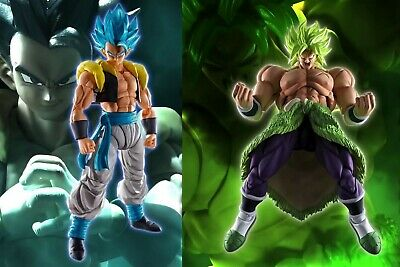2-SET S.H.Figuarts Dragon Ball Movie Super Saiyan Blue Gogeta & Broly IN STOCK!