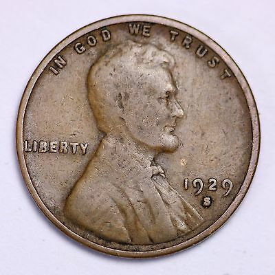 1929-S Lincoln Wheat Cent Penny LOWEST PRICES ON THE BAY!  FREE SHIPPING!