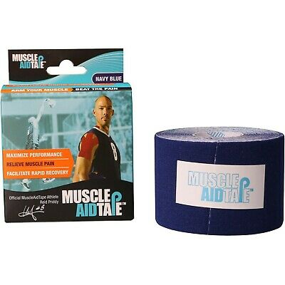 Muscle Aid Tape Kinesiology Tape 2 Rolls Navy Blue