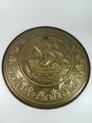 Vintage Decorative Ship Boat Hanging Wall Art Plate 12-Inch Diameter