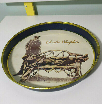 Charlie Chaplin Drink Serving Tray 1980 Bubbles Inc