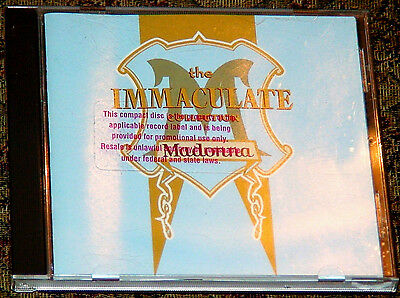 Madonna Immaculate Collection 1990 Us Cd Stickered Promo Only Made In Usa Open