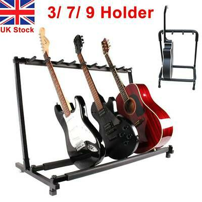 Guitar Stand 3/7/9 Holder Folding Display Rack Stand Stage Bass Acoustic Guitar