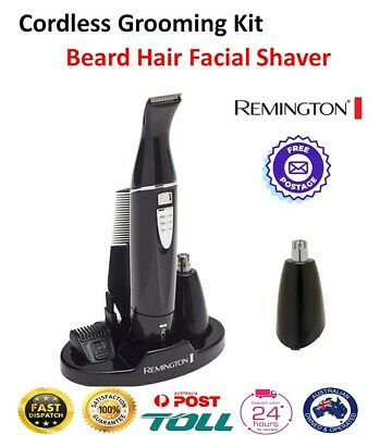 Remington Mens Shaver Beard Hair Trimmer Groomer Cordless Nose Ear Body Face