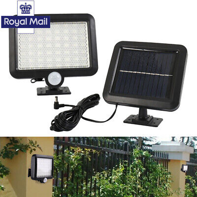 Solar Power PIR Motion Sensor Outdoor Garden Security Light Flood Lamp 56/32 LED
