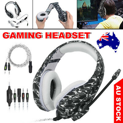 ONIKUMA K1 Stereo MIC Gaming Surround Headset for Laptop Xbox One PS4 Camo ec