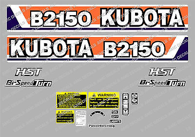 Kubota  B2150 Hst Compact Tractor Decal Sticker