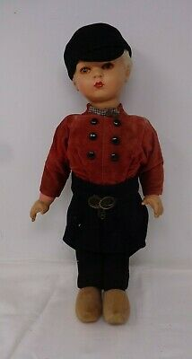 Collectable Antique Vintage Dutch Boy Doll Fully Dressed With Hat Tunic & Clogs*