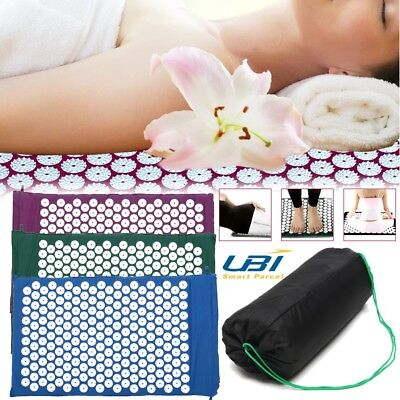 Massage Acupressure Mat Yoga Sit Lying Mats Release Pain Stress Relax +