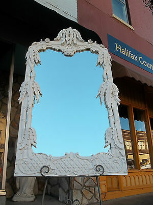 Outstanding Italian Hand Carved White Mirror 20th century