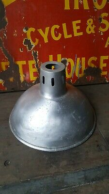 Vintage Aluminium Light shade Reclaimed agricultural salvage industrial factory