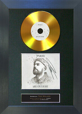 GOLD DISC TOM WALKER What A Time To Be Alive Signed Autograph Mounted Print 183