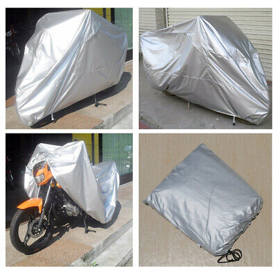 Black+Silver Motorcycle Cover For Harley Davidson Dyna Glide Fat Bob Street Bob