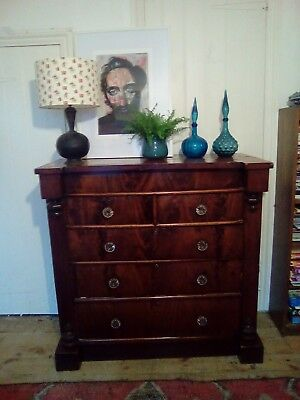 Late 18Th Century Large Chest Of Drawers 6 Drawers Mahogany