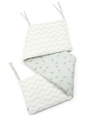 Mamas and Papas Aqua Essentials HEDGEHOG CHEVRON Unisex Cot / Cot bed Bumper