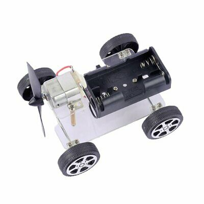#90 DIY Wind-up Toy Wind Assemble Car Toys Wind-powered Auto Motor Robot DR