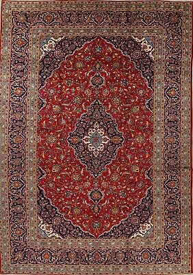 10x14 Persian Traditional Wool Hand-Knotted Geometric Oriental LARGE Rug RED