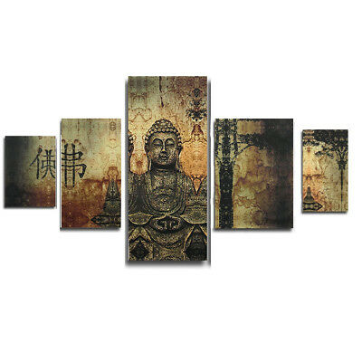 Frameless Huge Buddha Abstract Canvas Oil Painting Art Home Wall Decoration