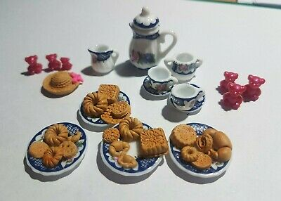 dollhouse mini miniature moulds cupcake ice cream cookie biscuit teddy 1:12 1:24