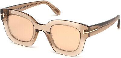 0a261e4b1bb86 TOM FORD FT0577 45E Diane-02 Shiny Light Brown Butterfly Sunglasses ...