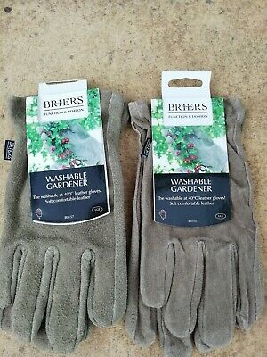 Briers Men's Washable Suede Garden /DIY Gloves L.size 9 Job Lot x 2 PAIRS Olive