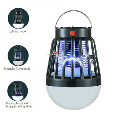 Camping Tent Outdoor Insect Bug Flying Killer Light Mosquito Zapper LED Lamp NEW