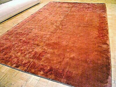 9x13 CHINESE RUG VINTAGE ART DECO NICHOLS AUTHENTIC HAND-MADE ORIENTAL RUG 1960s