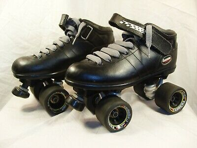 64930f9046c RIEDELL CARRERA BLACK Speed Roller Skates Size 7 105B Boots Style  2 ...
