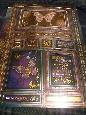 HUNKYDORY MIRRI-MAGIC BUTTERFLY JEWELS TOPPER-CARDS-INSERTS-ENVELOPES