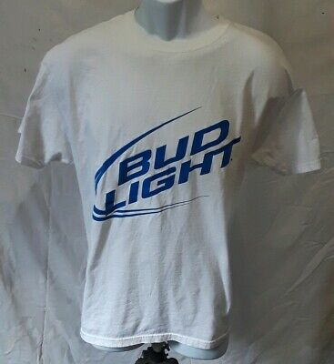 4b8f5d987fdb9 VINTAGE Men's Bud Light White Large T-Shirt Budweiser Beer Spring Break