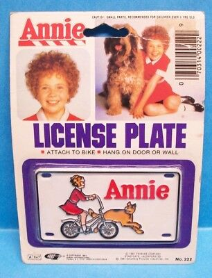 1981 Gordy Tribune Columbia Pictures Little Orphan Annie Bike License Plate