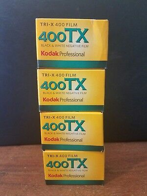 4 Rolls Kodak TX 400 135-36 35mm Tri-X Pan Black and White 35mm Film exp 2016