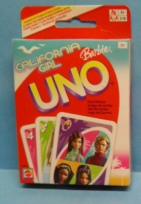 300191//12 ★MATTEL Gioco UNO BARBIE California Girl ORIGINALE