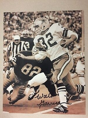 197429ba695 WALT GARRISON DALLAS Cowboys Autographed 8x10 Photo in Black & Gold ...