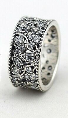 5a7130ede Authentic Pandora 190965CZ-52 Shimmering Leaves CZ Size 5.75 Sterling Ring